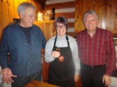 photo de soirée tenue au vignoble du Clos Baillie